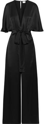 CAMI NYC The Keri Pleated Silk-satin Jumpsuit