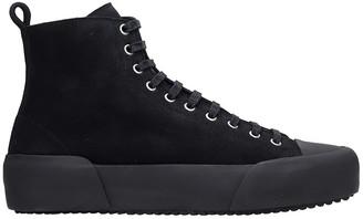 Jil Sander Sneakers In Black Canvas