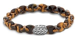 John Hardy Sterling Silver Classic Chain Tiger's Eye Bead Bracelet