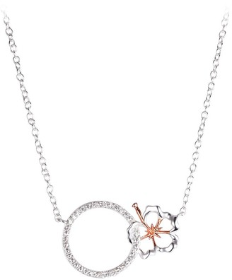 Disney Lilo & Stitch Hibiscus and Circle Necklace