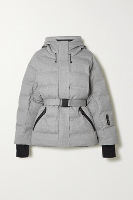 IENKI IENKI - Sheena Hooded Belted Quilted Down Ski Jacket - Light gray