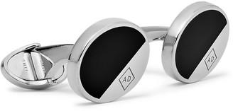 Dunhill Silver-Tone and Enamel Cufflinks - Men - Black
