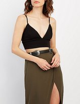 Charlotte Russe Strappy Triangle Crop Top