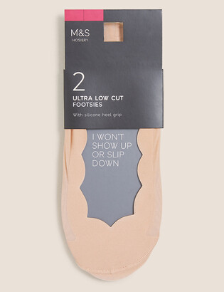 Marks and Spencer 2pk Ultra Low Cut Footsies
