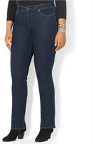 Lauren Ralph Lauren Plus Size Curvy Straight-Leg Jeans