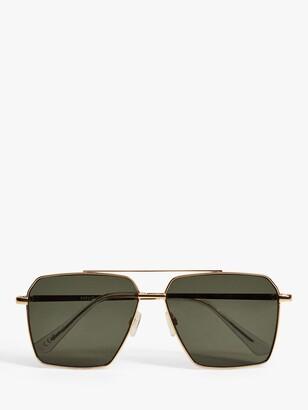 MANGO Women's Tasos Square Sunglasses, Gold