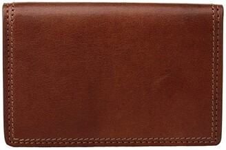 Bosca Dolce Collection - Full Gusset Two-Pocket Card Case w/ I.D. (Amber) Credit card Wallet