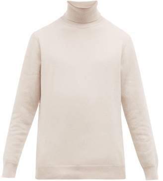 Altea Roll Neck Wool Blend Sweater - Mens - Cream