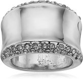"Robert Lee Morris Cocktail Hour"" Pave Sculptural Silver Ring, Size 8.5"