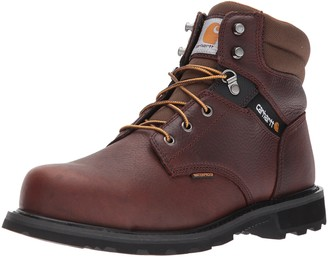 Carhartt Men's 6-Inch Brown Waterproof Work Boot - Steel Toe 13 M US - CMW6264