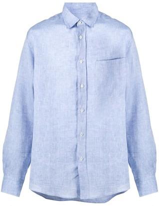 Missoni Side-Striped Linen Shirt