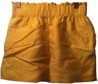 Cos Yellow Wool Skirt for Women