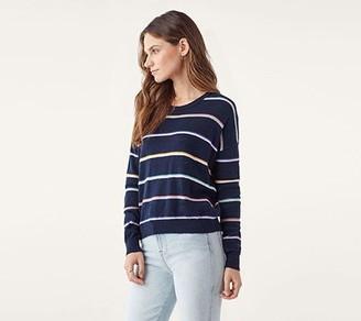 Splendid Solid & Striped Sweater - Fleet