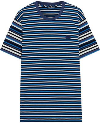 Acne Studios Appliqued Striped Cotton-jersey T-shirt