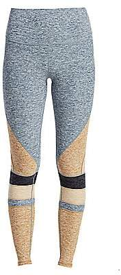 Alo Yoga Women's Moment High-Waist Brushed Two-Tone Leggings