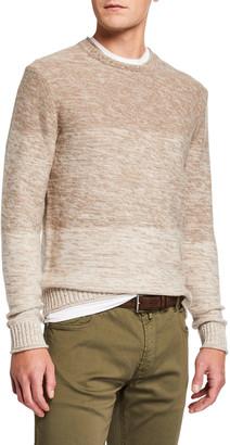Neiman Marcus Men's 3-Panel Ombre Sweater