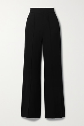 Alice + Olivia Dylan Crepe Wide-leg Pants - Black