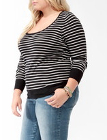Forever 21 Plus Size Classic Striped Sweater