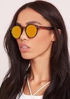 Missy Empire Jinx Yellow Tint Leopard Print Cat Eye Sunglasses