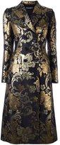 Dolce & Gabbana floral brocade midi coat