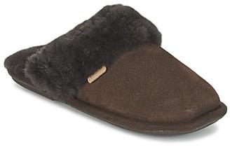 Just Sheepskin DUCHESS women's Flip flops in Brown