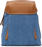 Loewe Blue Denim Small T Backpack