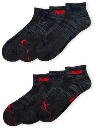 Puma 6-Pack Quarter Crew Cushioned Socks
