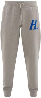 Helmut Lang Logo-applique Cotton-jersey Track Pants - Mens - Light Grey
