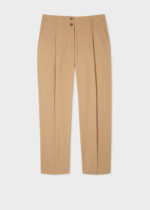 Paul Smith Women's Sand Pleated Cotton Pants