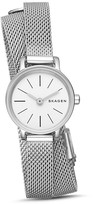 Skagen Hagen Double Wrap Mesh Bracelet Watch, 20mm