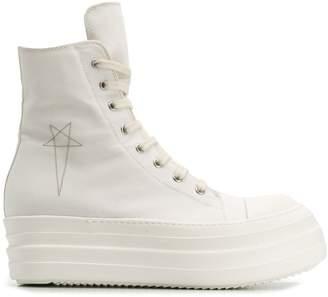 Rick Owens hi-top platform sneakers