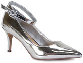 Bamboo Silver Ankle-Strap Prevail Pump