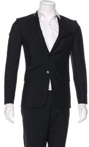 Givenchy 2015 Zip-Accented Wool Blazer