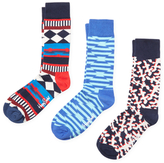 Happy Socks Diamond, Stripes and Abstract Socks (3 PK)