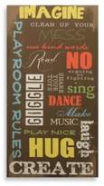 Star Creations Playroom Rules Canvas Wall Art