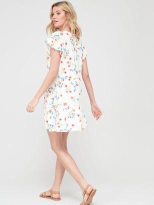 Very Textured Smock Tiered Mini Dress