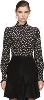 Isabel Marant Black Floral Sloan Blouse