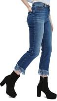 Topshop Women's Dree Fringe Crop Jeans