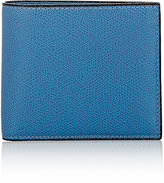 Valextra Men's Leather Billfold-BLUE