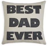 "Alexandra Ferguson Best Dad Ever Decorative Pillow, 16"" x 16"""