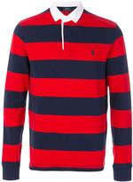 Polo Ralph Lauren striped button collar T-shirt