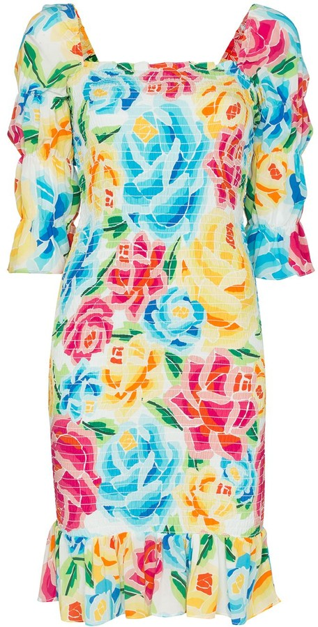 All Things Mochi Marianna off-the-shoulder floral-print dress
