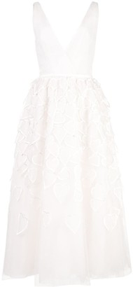 Carolina Herrera heart embroidered tulle dress