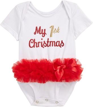 Popatu My First Christmas Skirted Bodysuit
