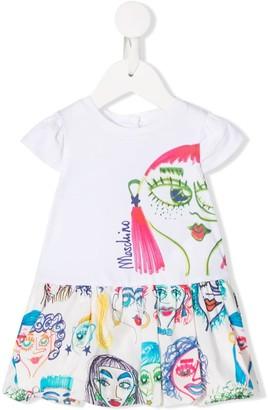 MOSCHINO BAMBINO Graphic Print Short-Sleeve Dress