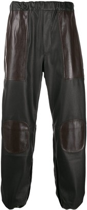 Gr Uniforma Leather Look Track Pants