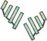 Kendra Scott Dawson Gunmetal Ear Climbers in Aqua Kyocera Opal