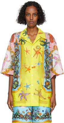 Versace Multicolor Tresor De La Mer Short Sleeve Shirt