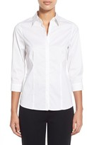 Ming Wang Women's Stretch Poplin Shirt