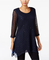 JM Collection Sequined Knit Tunic, Only at Macy's